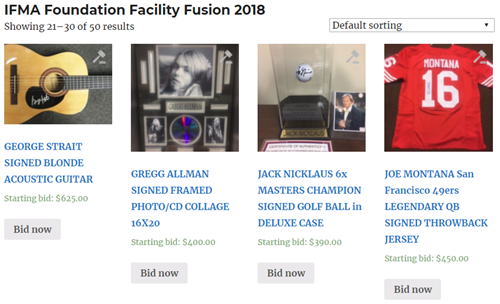 IFMA Foundation Online Auction