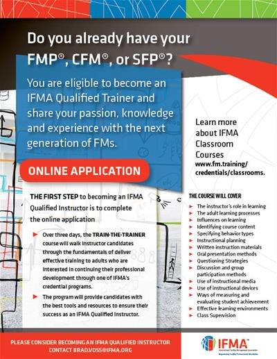 Become an IFMA Trainer
